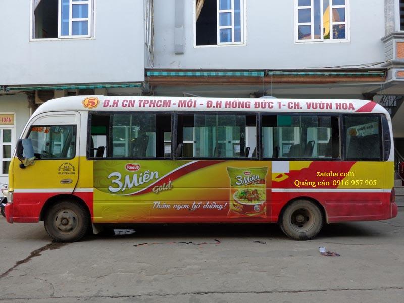 Quảng cáo trên thân xe buýt Hồ Chí Minh