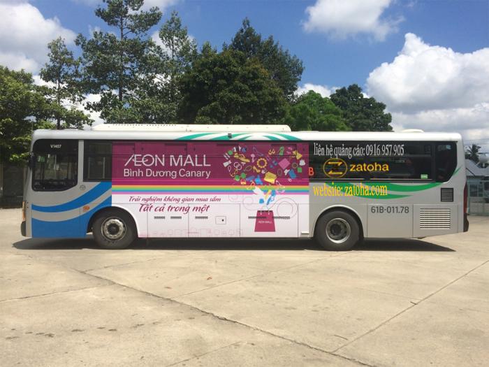 Dịch vụ quảng cáo xe bus Bình Dương uy tín, chuyên nghiệp