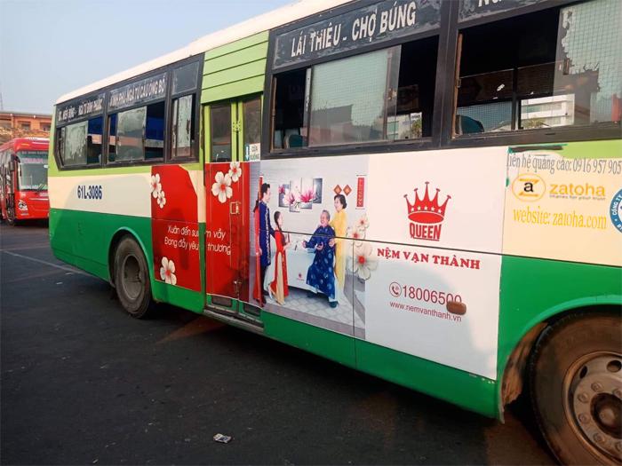 Quảng cáo trên xe bus (buýt) Bình Dương, ấn tượng sinh động