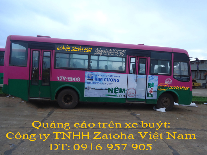Dịch vụ quảng cáo trên bus các tỉnh Tây Nguyên tại Zatoha