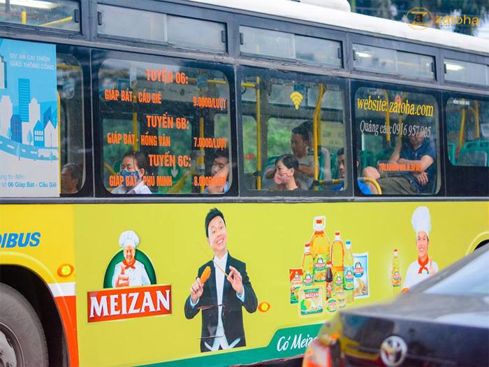 Báo giá quảng cáo xe buyt (xe bus) Hà Nội