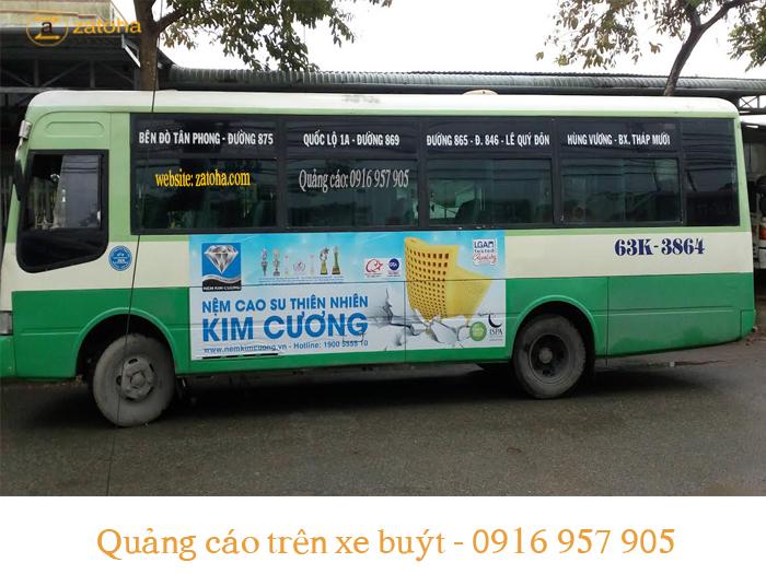 Lợi ích lớn đến từ quảng cáo xe bus Tiền Giang
