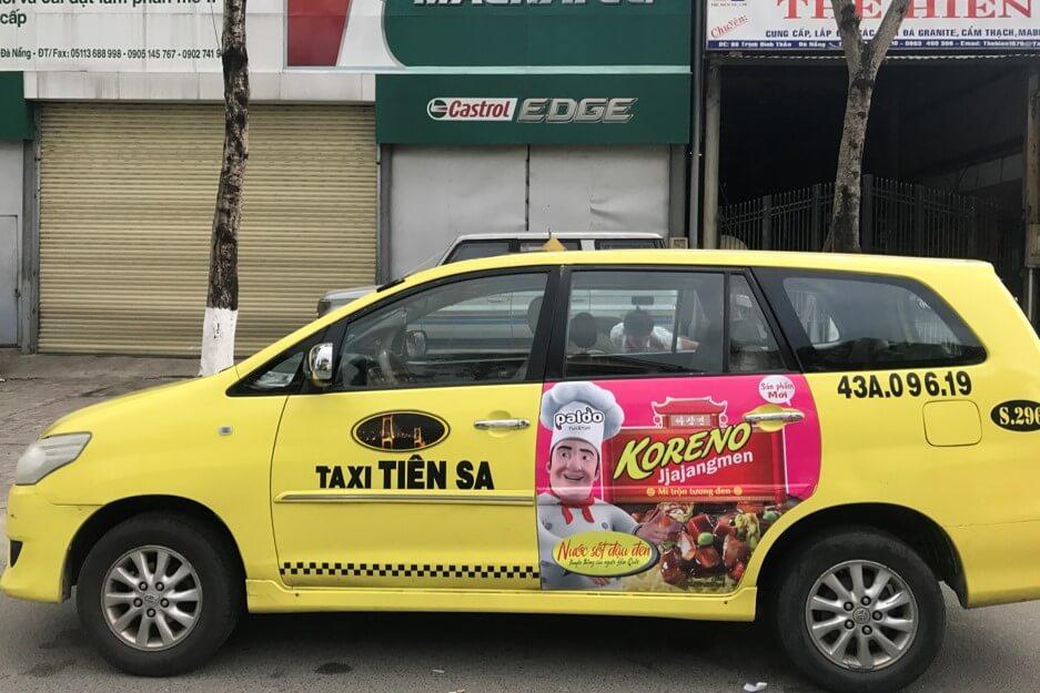 Lợi ích bất ngờ của dịch vụ quảng cáo trên xe taxi Tiên Sa
