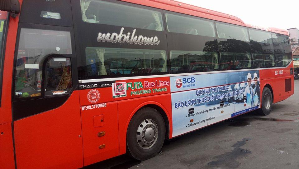 Quảng cáo trên xe Phương Trang- dịch vụ quảng cáo  hấp dẫn